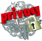 Privacy Chain Link Ball Lock Chain Private Secure Information Royalty Free Stock Photo