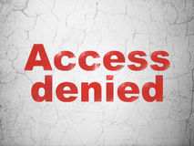 Privacy concept: Access Denied on wall background Royalty Free Stock Photography