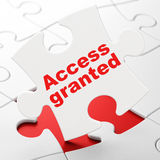 Privacy concept: Access Granted on puzzle Royalty Free Stock Images