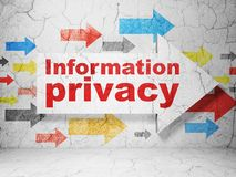 Privacy concept: arrow with Information Privacy on grunge wall background Royalty Free Stock Photography
