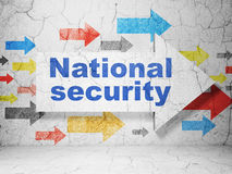 Privacy concept: arrow with National Security on Royalty Free Stock Photography