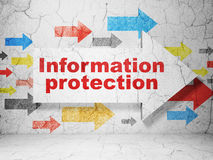 Privacy concept: arrow whis Information Protection on wall Royalty Free Stock Images