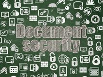 Privacy concept: Document Security on School board background Stock Photo