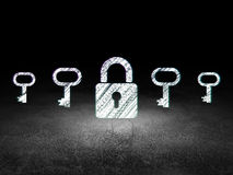 Privacy concept: closed padlock icon in grunge Stock Image