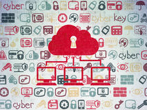 Privacy concept: Cloud Network on Digital Paper Royalty Free Stock Photos