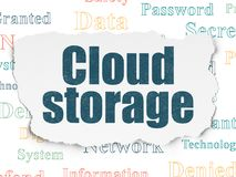 Privacy concept: Cloud Storage on Torn Paper background Stock Photography