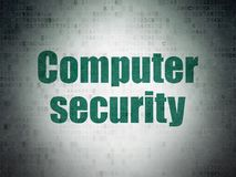 Privacy concept: Computer Security on Digital Data Paper background Royalty Free Stock Image