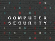 Privacy concept: Computer Security on wall background Royalty Free Stock Photos