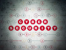 Privacy concept: Cyber Security on Digital Paper Stock Photo