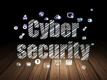 Privacy concept: Cyber Security in grunge dark Royalty Free Stock Image