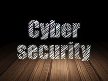 Privacy concept: Cyber Security in grunge dark Stock Images