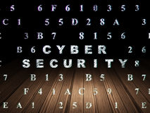 Privacy concept: Cyber Security in grunge dark Stock Photography