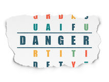Privacy concept: Danger in Crossword Puzzle Stock Photography