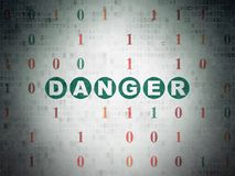 Privacy concept: Danger on Digital Data Paper background Stock Photos