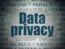 Privacy concept: Data Privacy on Digital Data Paper background Stock Images