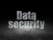 Privacy concept: Data Security in grunge dark room Stock Photos
