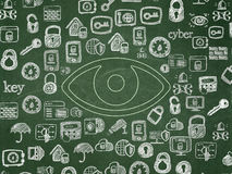 Privacy concept: Eye on School Board background Royalty Free Stock Image