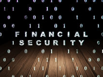 Privacy concept: Financial Security in grunge dark Stock Photography