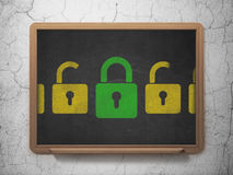 Privacy concept: green closed padlock icon on Royalty Free Stock Image