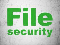 Privacy concept: File Security on wall background. Privacy concept: Green File Security on textured concrete wall background Royalty Free Stock Image