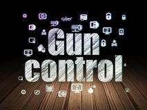 Privacy concept: Gun Control in grunge dark room Stock Photos
