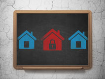 Privacy concept: home icon on School Board Royalty Free Stock Photography