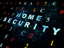 Privacy concept: Home Security on Digital Royalty Free Stock Photography