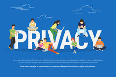 Privacy concept illustration Stock Images