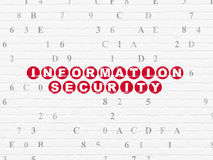 Privacy concept: Information Security on wall Royalty Free Stock Photo