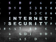 Privacy concept: Internet Security in grunge dark Stock Image