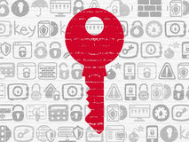 Privacy concept: Key on wall background Royalty Free Stock Photos