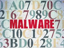 Privacy concept: Malware on Digital Data Paper background Royalty Free Stock Photography
