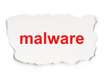 Privacy concept: Malware on Paper background Stock Image