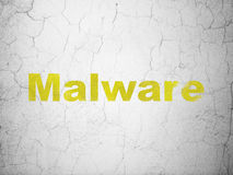 Privacy concept: Malware on wall background Stock Photo