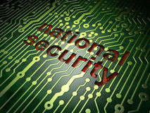 Privacy concept: National Security on circuit Royalty Free Stock Photo