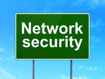 Privacy concept: Network Security on road sign Royalty Free Stock Images