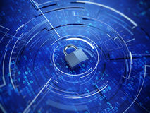 Privacy concept. Padlock on digital backgroud - Privacy concept Stock Images