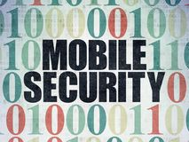 Privacy concept: Mobile Security on Digital Data Paper background Stock Images
