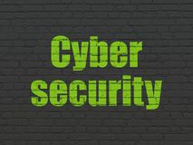 Privacy concept: Cyber Security on wall background Stock Image