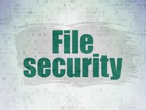 Privacy concept: File Security on Digital Data Paper background. Privacy concept: Painted green text File Security on Digital Data Paper background with  Scheme Royalty Free Stock Images