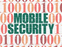 Privacy concept: Mobile Security on wall background Stock Photos