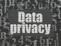 Privacy concept: Data Privacy on wall background Royalty Free Stock Image
