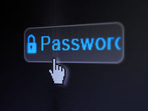 Privacy concept: Password and Closed Padlock on Stock Photos