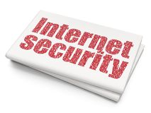 Privacy concept: Internet Security on Blank Newspaper background Royalty Free Stock Images