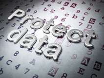 Privacy concept:  Protect Data on Hexadecimal Code background Royalty Free Stock Images