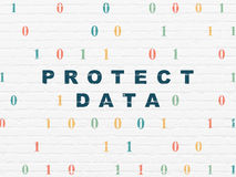 Privacy concept: Protect Data on wall background Royalty Free Stock Images