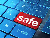Privacy concept: Safe on computer keyboard Royalty Free Stock Photo