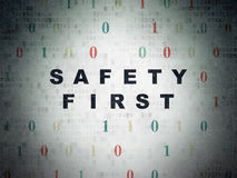 Privacy concept: Safety First on Digital Paper Stock Photos