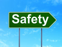 Privacy concept: Safety on road sign background Royalty Free Stock Image
