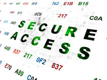 Privacy concept: Secure Access on Digital Stock Image